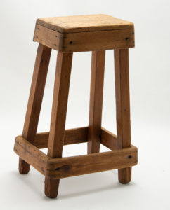 Tall Vintage Tailors Stool